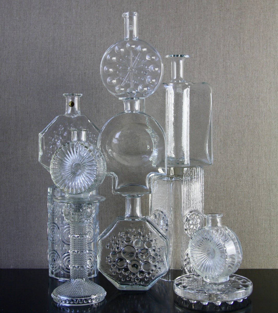 "Clear Model 5688 ""Grapponia"" Reversible Candlestick <br> Nanny Still, 1960"