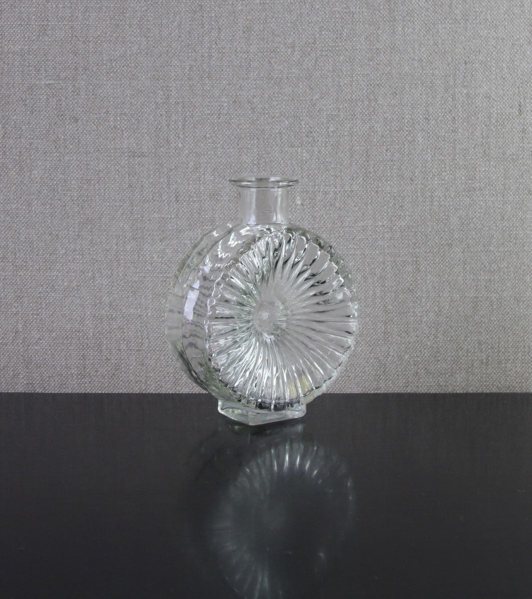 "Clear Model 1394 ""Aurinko"" (Sun) Bottle Vase by Helena Tynell, 1964"