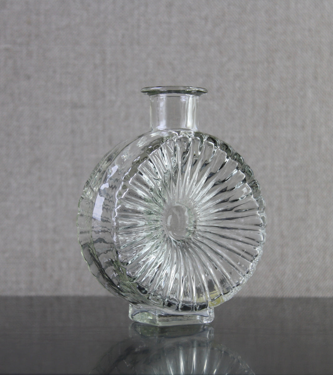 "Clear Model 1394 ""Aurinko"" (Sun) Bottle Vase <br> Helena Tynell, 1964"