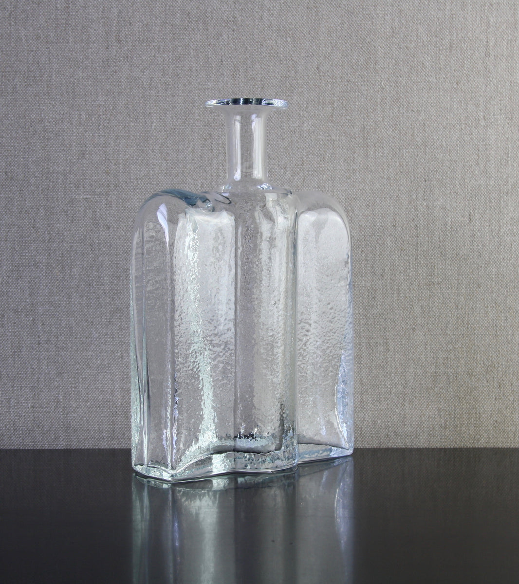 "Clear Model 1721 ""Railo"" Bottle by Nanny Still, 1974"