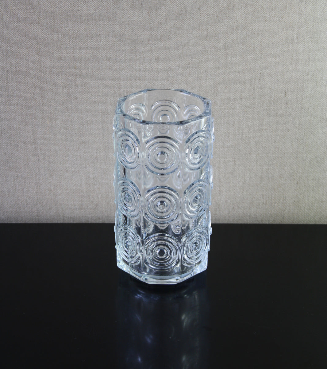 "Clear Model 5682 ""Rengas"" (Ring) Vase <br> Tamara Aladin, 1972"