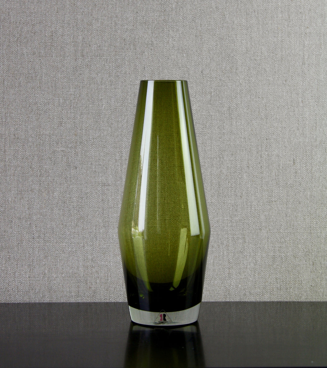 Olive Green Large 'Tapered' Vase by Tamara Aladin, C. 1970