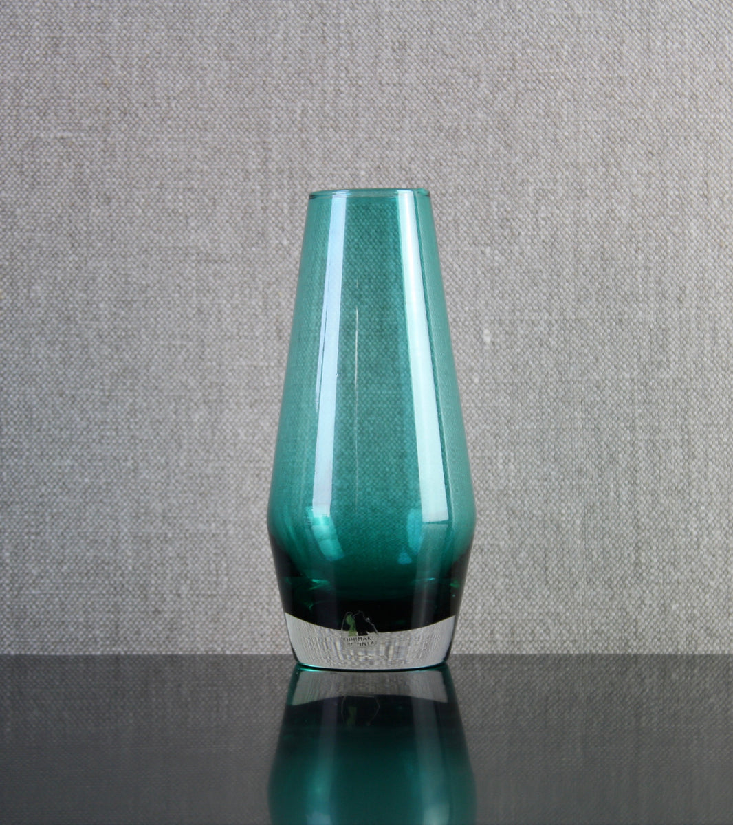 Teal 'Tapered' Vase by Tamara Aladin, C. 1970