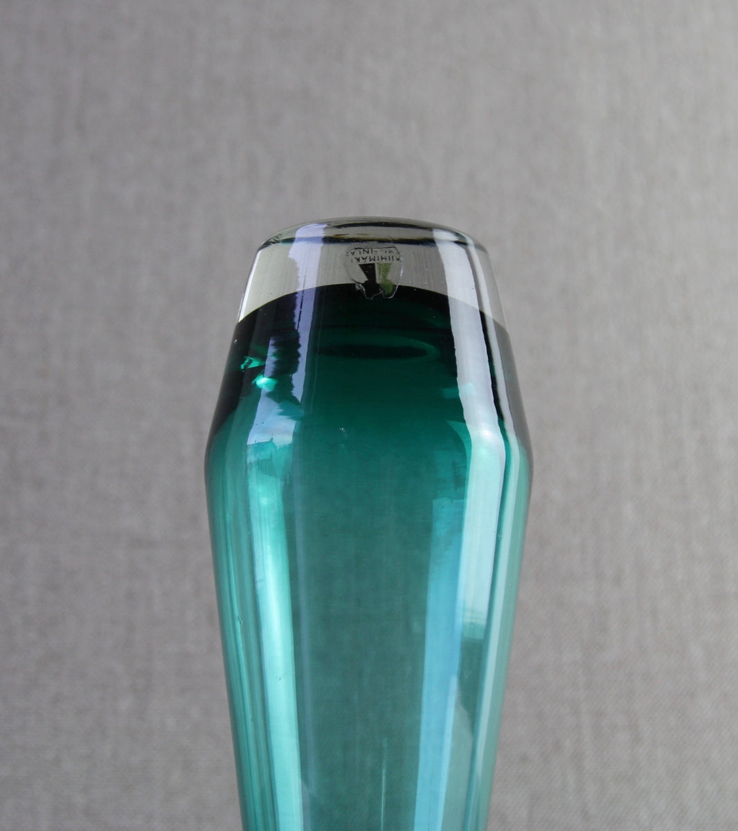 Teal 'Tapered' Small Vase <br> Tamara Aladin, C. 1965