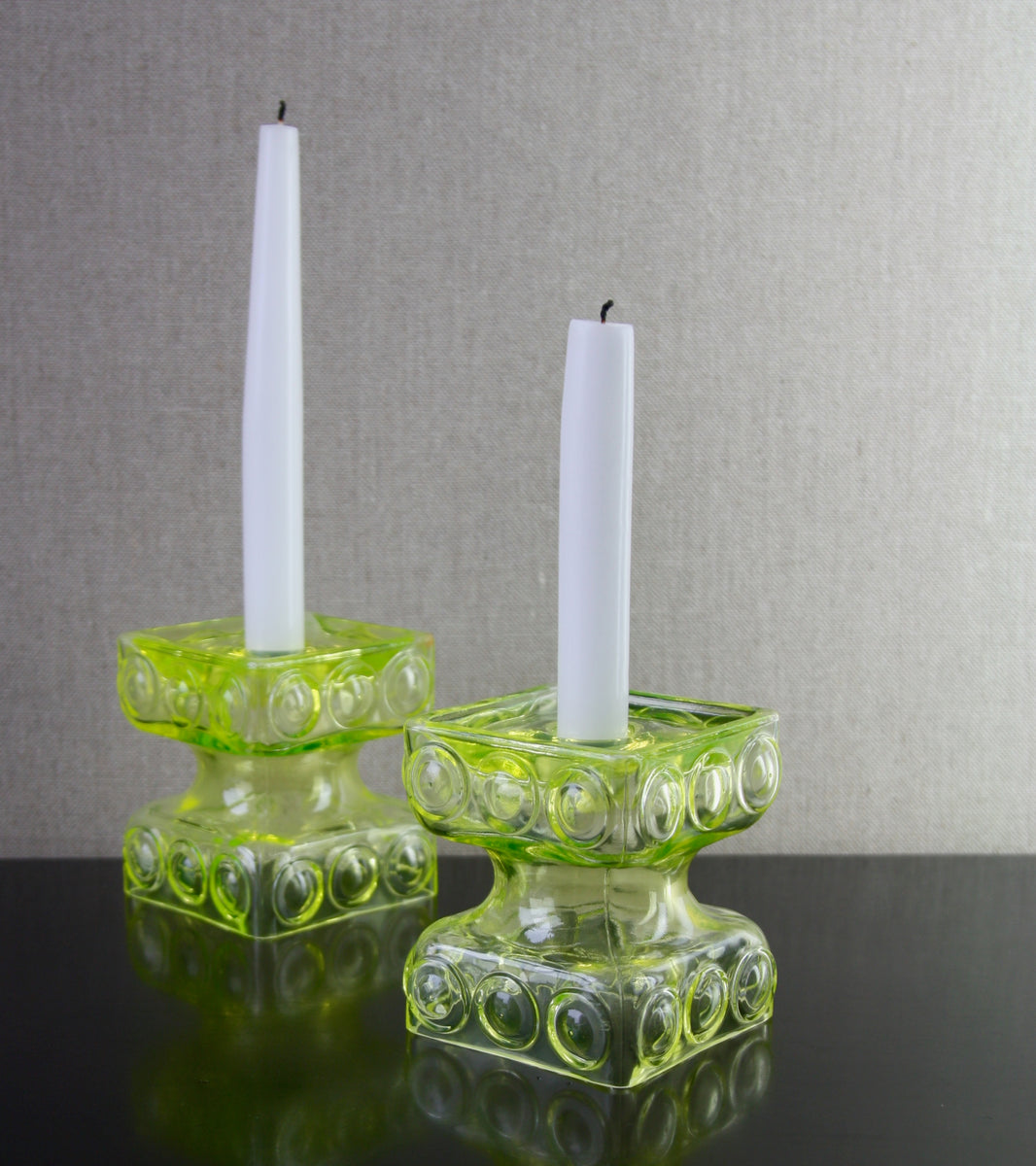 "Pair of Uranium Model 2159 ""Kehrä"" Reversible Candlesticks <br> Tamara Aladin, 1968"