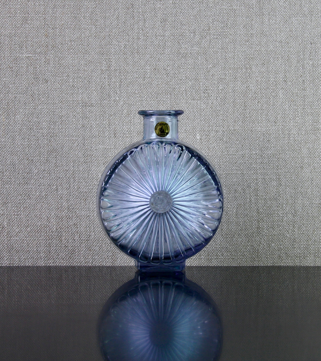 "Rare Neodymium Violet Model 1394 ""Aurinko"" (Sun) Bottle Vase by Helena Tynell, 1964"