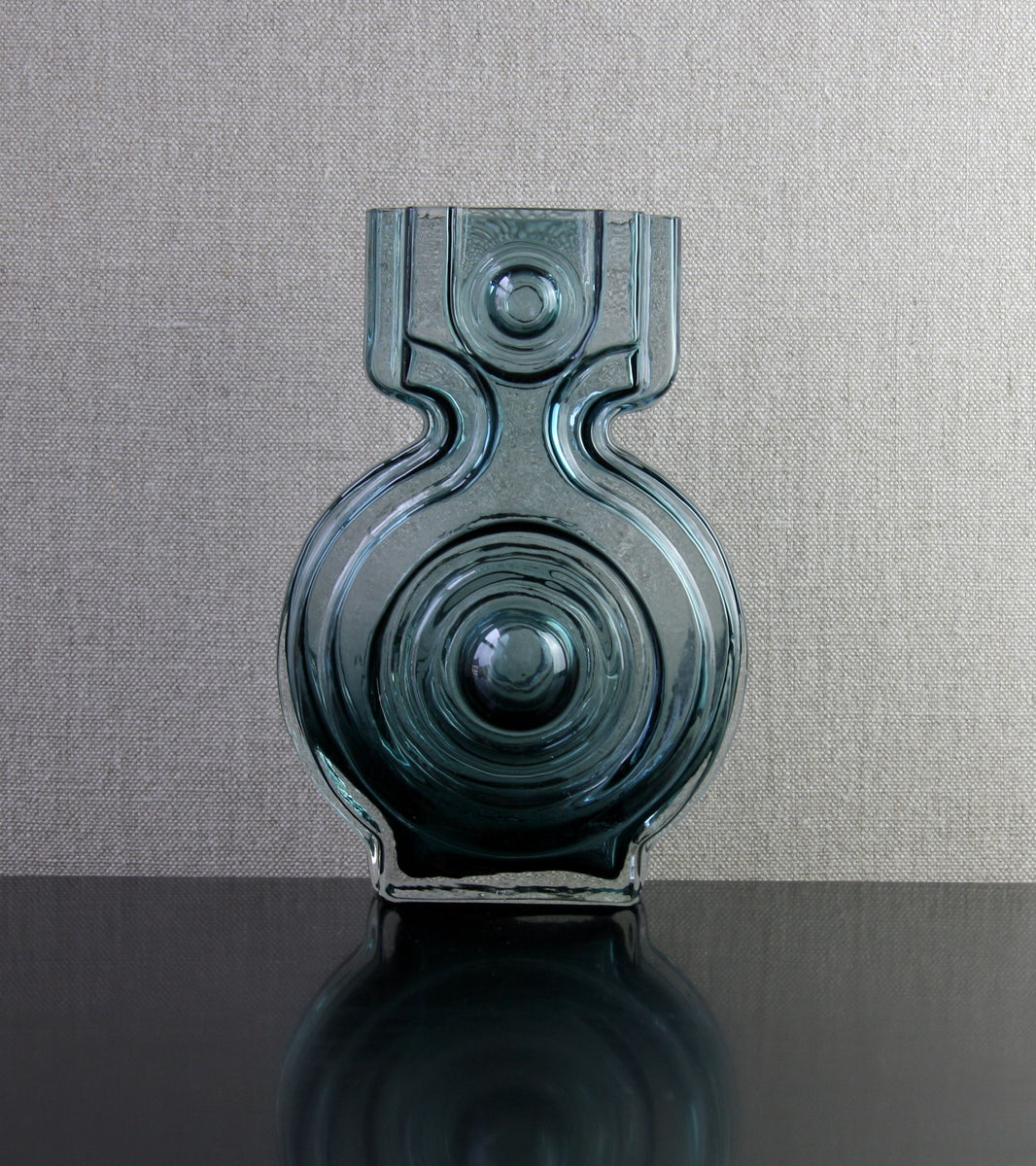 "Steel Blue Model 1311 ""Aitanlukko"" (Storehouse Lock) Vase by Helena Tynell, 1968"