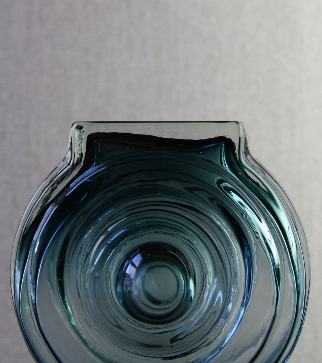 "Steel Blue Model 1311 ""Aitanlukko"" (Storehouse Lock) Vase / Helena Tynell, 1968"