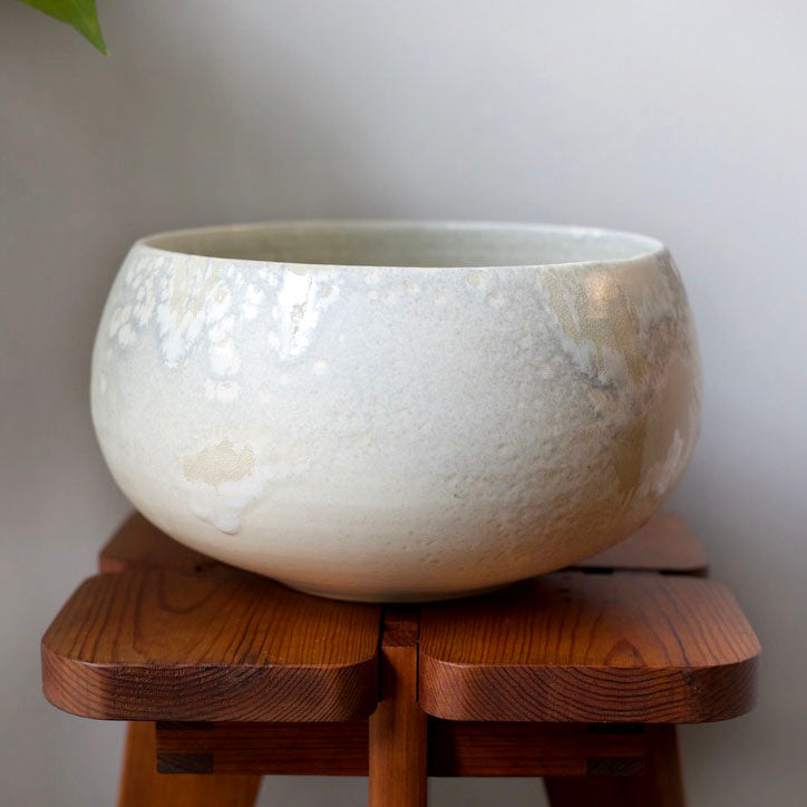 Small Cauldron Shaped Bowl <br> Opalescent Glaze