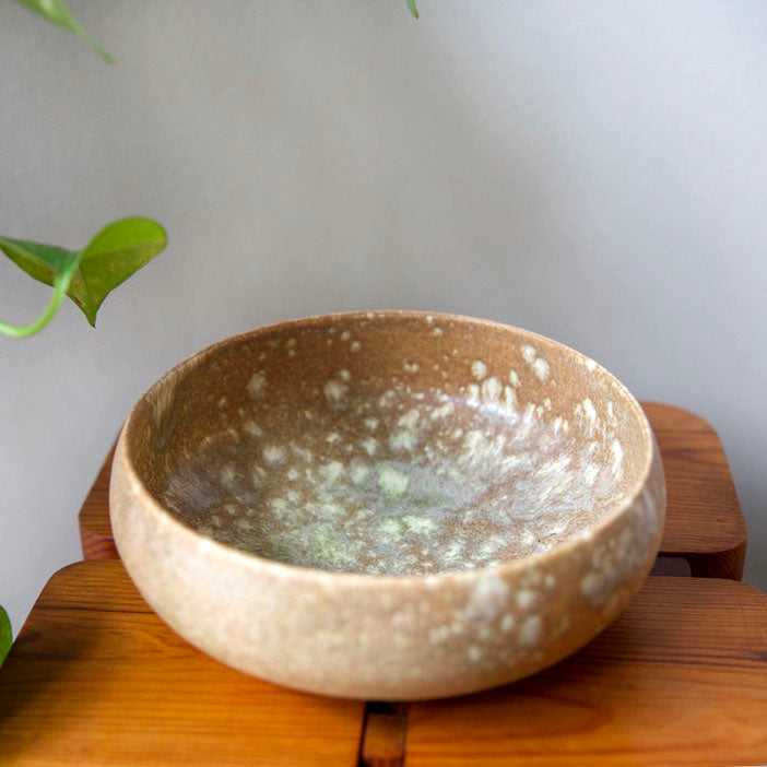 Closed Form Bowl <br> Terracotta & Green Glaze