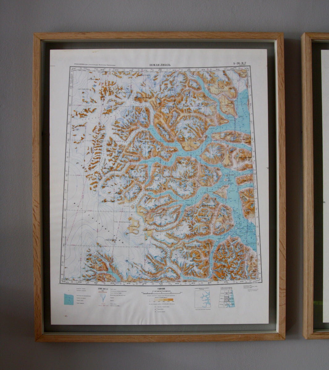 Detailed 1960s Soviet Maps of Greenland - Image 3