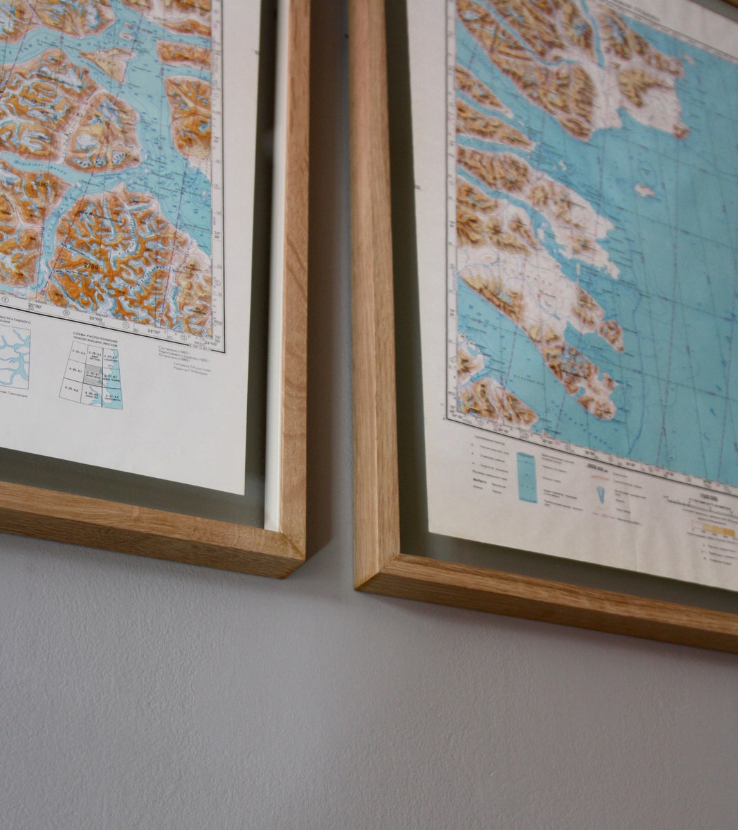 Vintage Pair of 1960s Soviet Maps of Greenland - Image 5