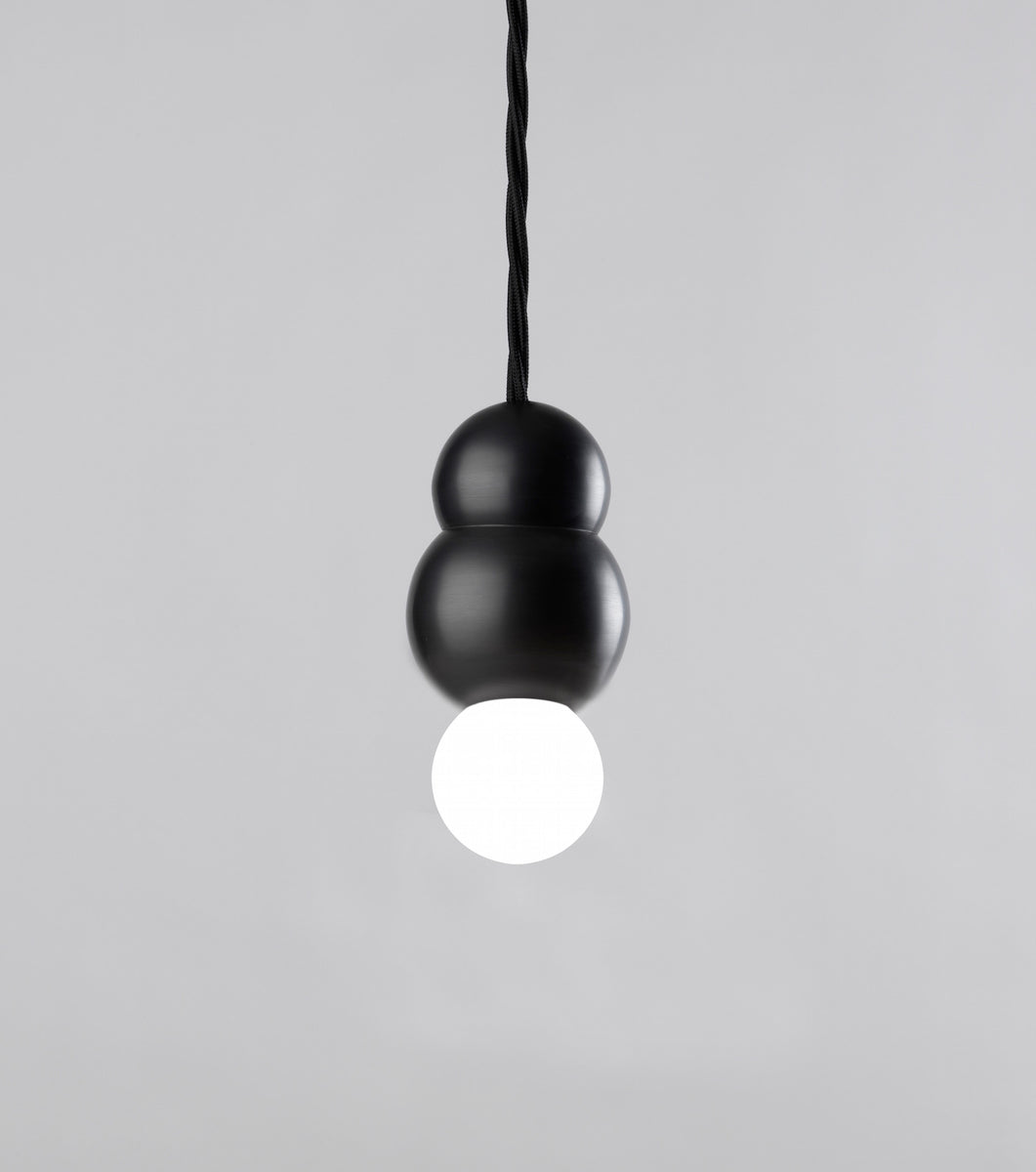 Modern Finished Ball Light Small Flex Black Patinated Michael Anastassiades - Image 1