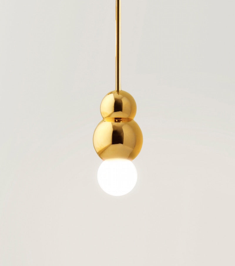 Ball Light Small Pendant Rod PolishedModern  Nickel Michael Anastassiades - Image 2