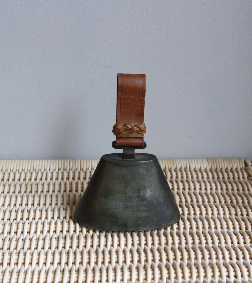 Brass Bell With Leather Handle Carl Auböck - Image 1