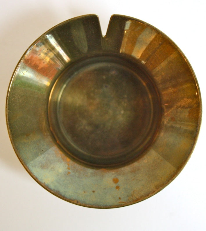 Top View of Brass & Leather Ashtray  Carl Auböck  - Image 4