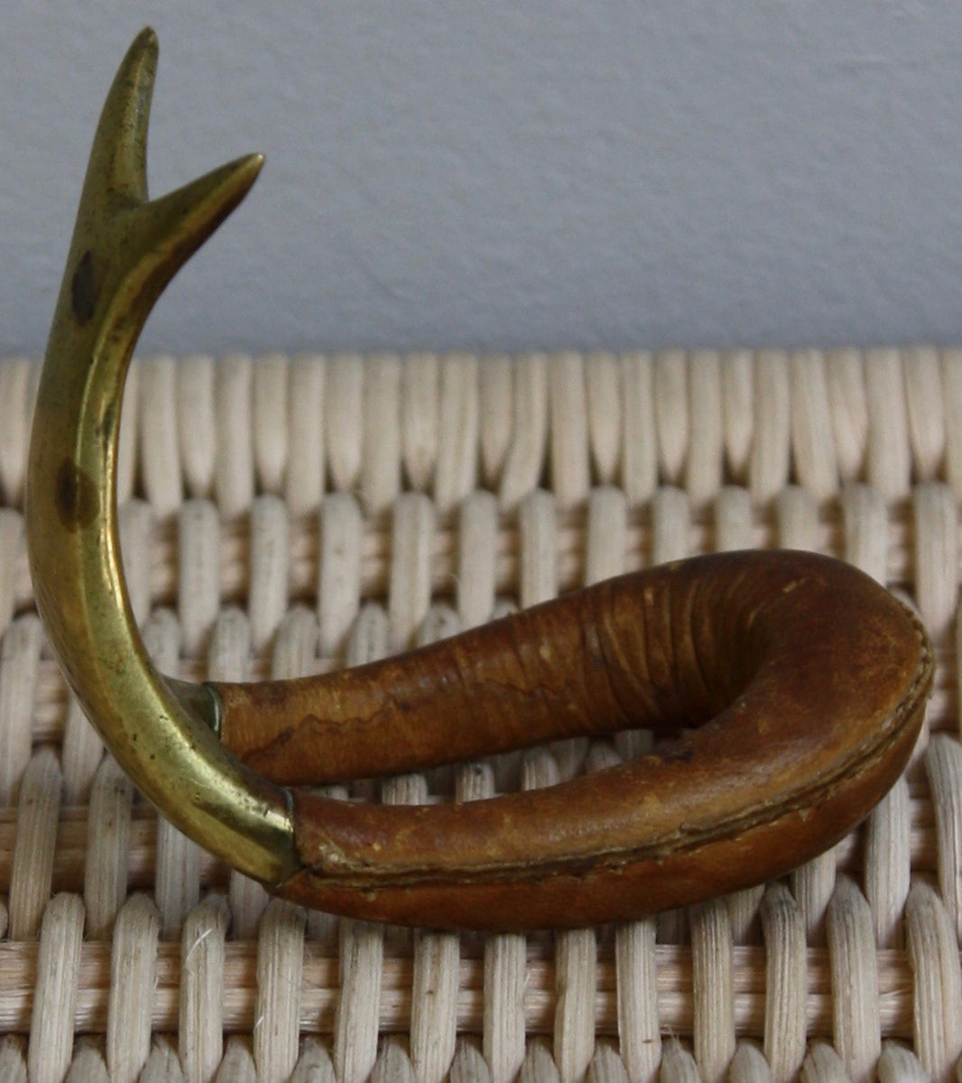 Brass & Leather Pipe Stand Carl Auböck  - Image 5