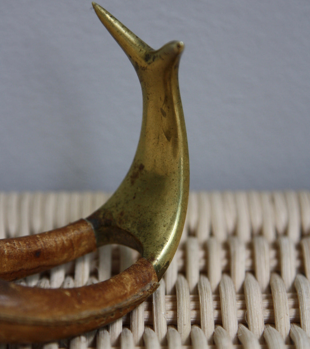 Brass & Leather Pipe Stand Carl Auböck  - Image 8