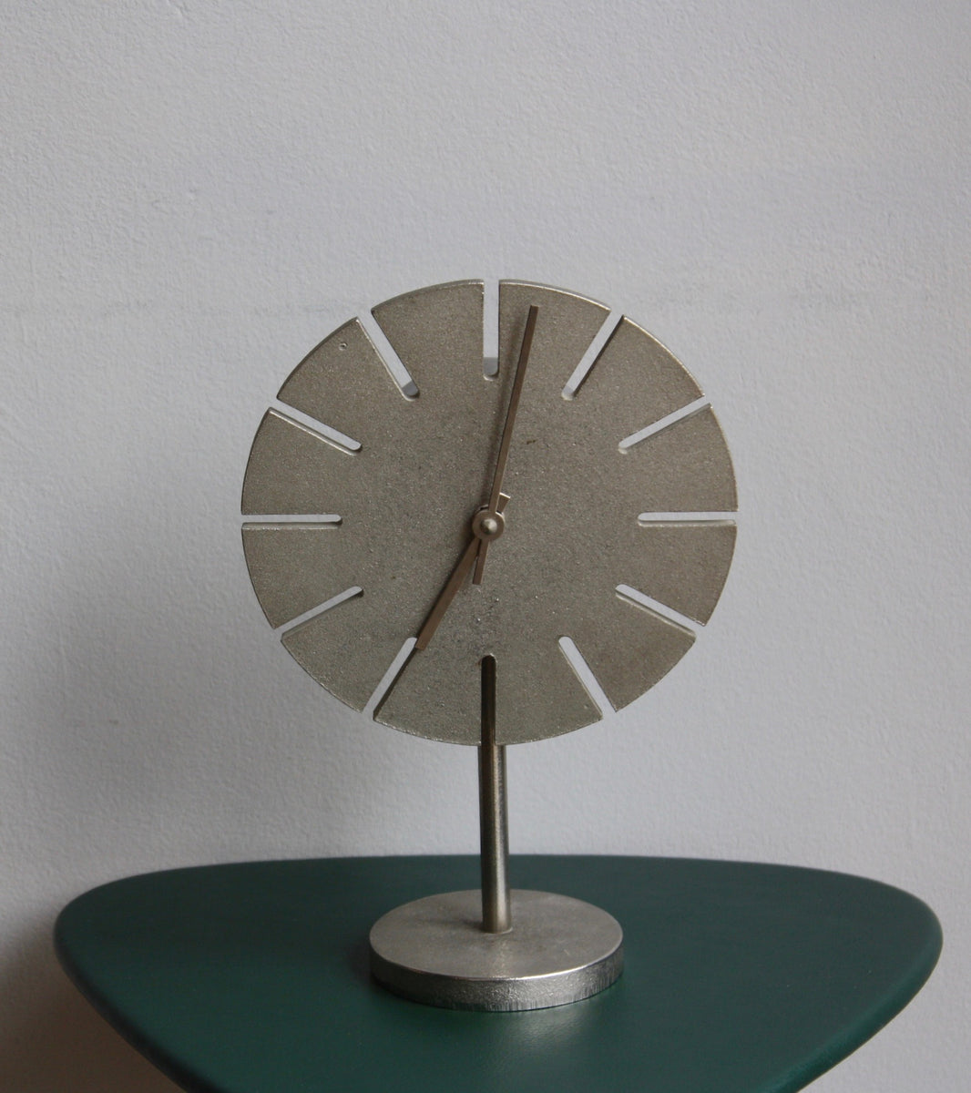 Cast Nickel Table Clock Carl Auböck - Image 14