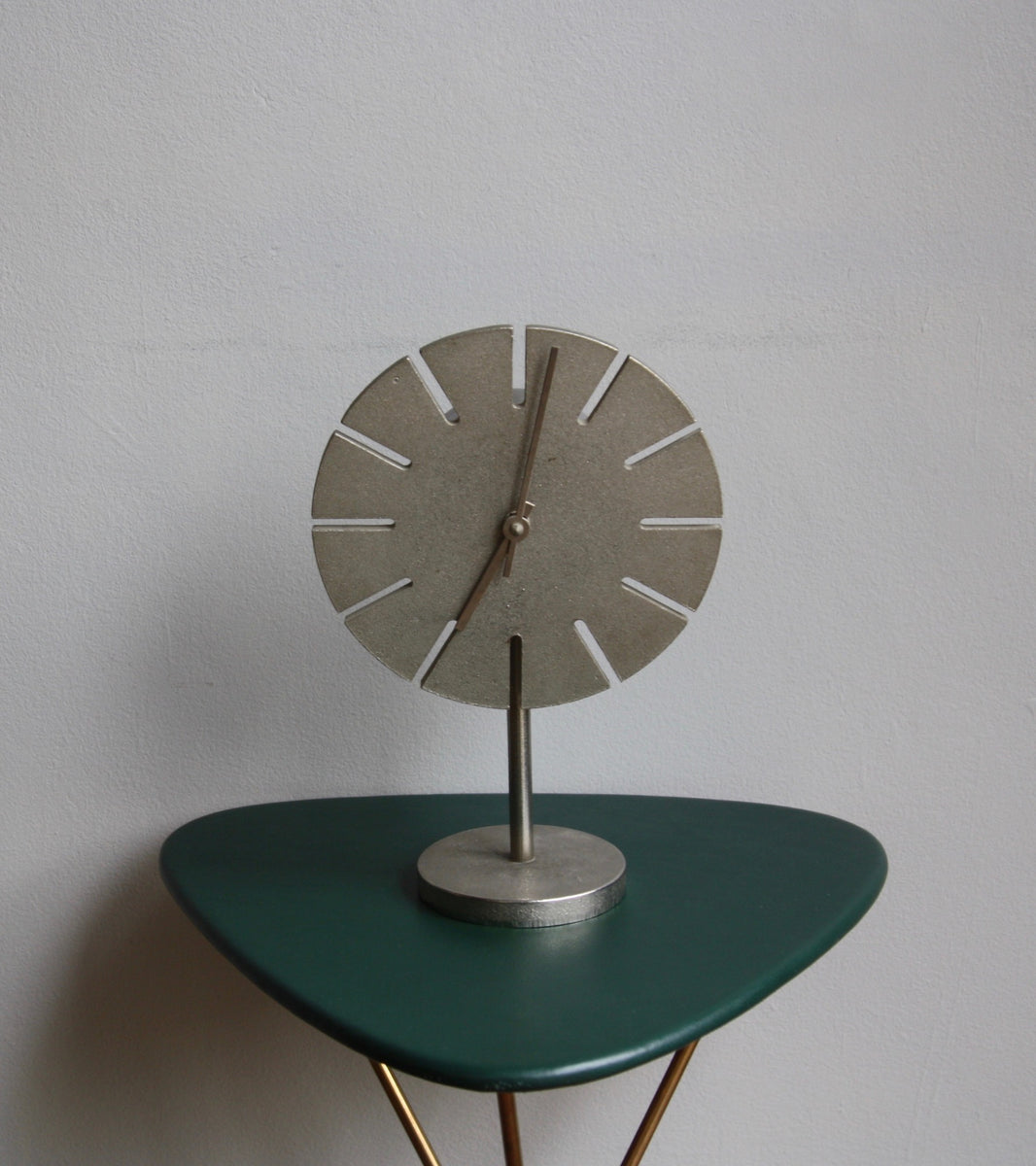 Cast Nickel Table Clock Carl Auböck - Image 1