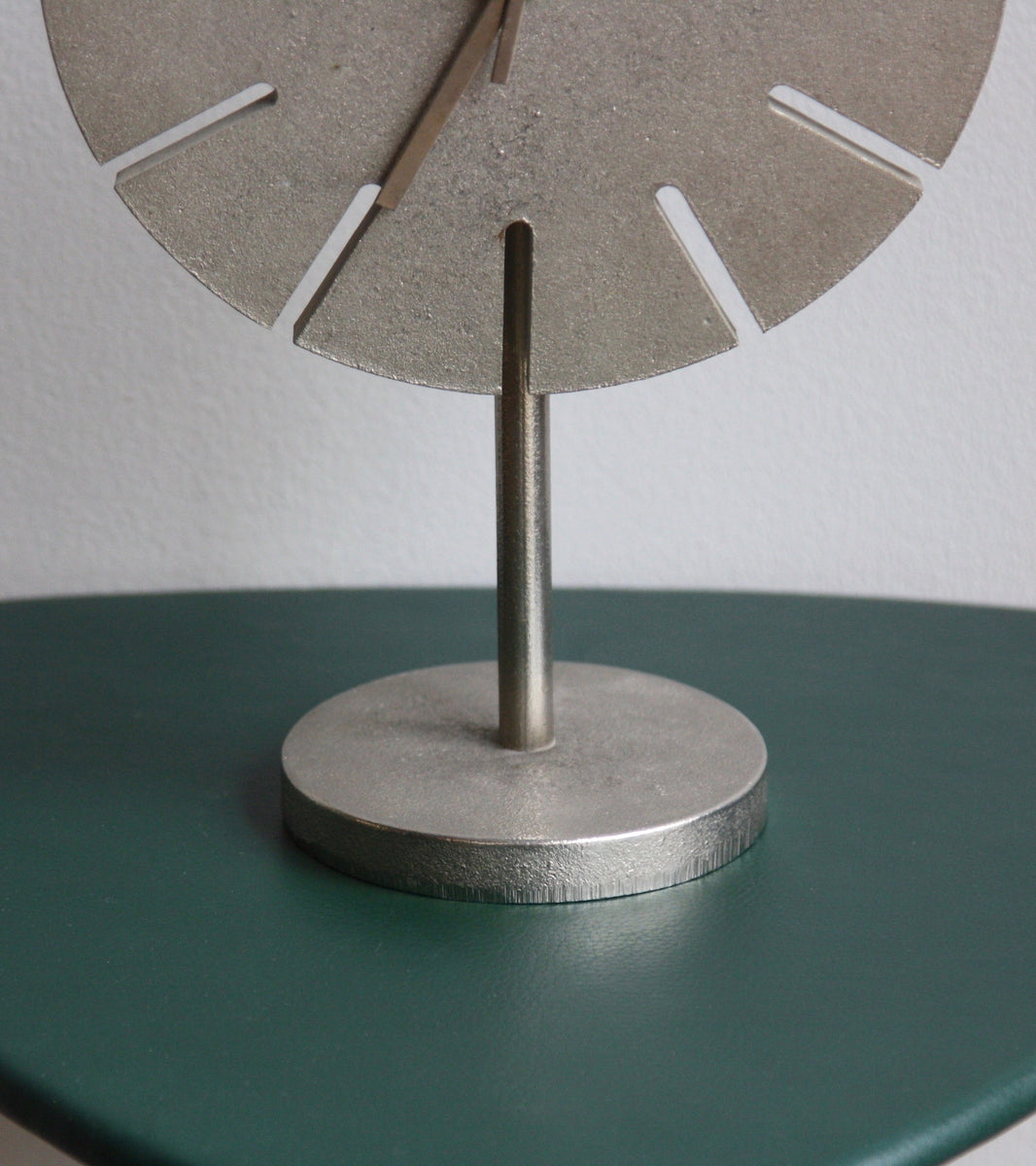 Solid Cast Nickel Table Clock Carl Auböck - Image 3