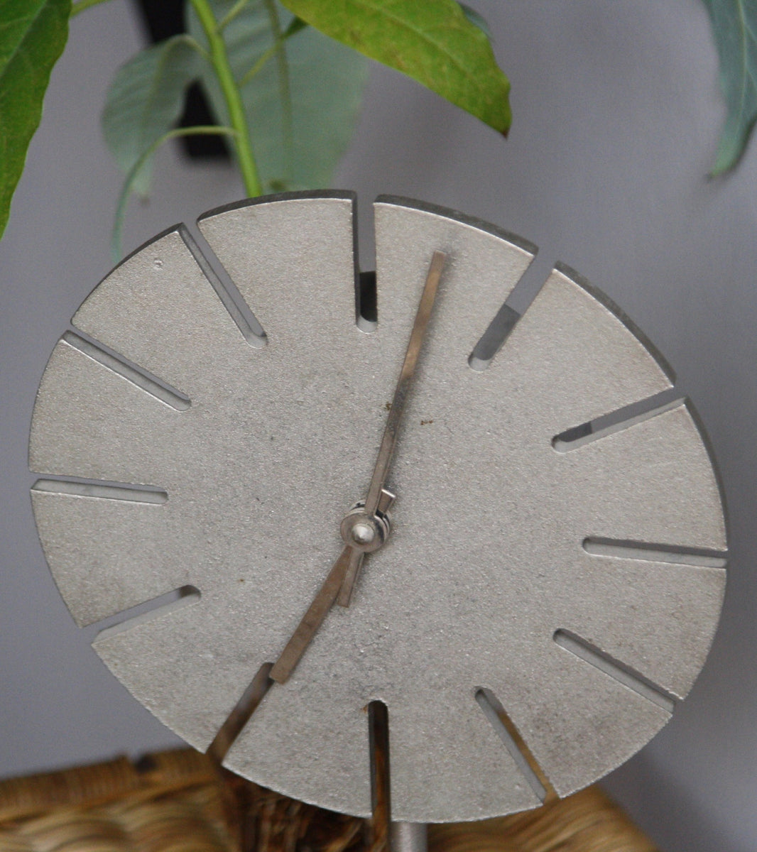 Round Cast Nickel Table Clock Carl Auböck - Image 4