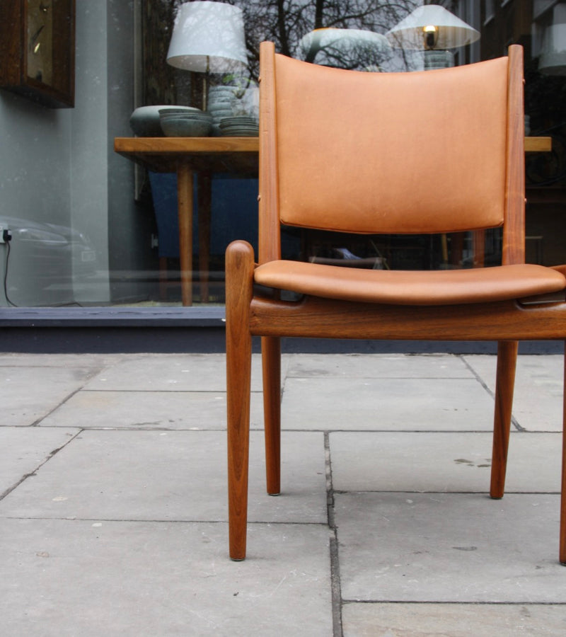Cognac Leather Chair Hans Wegner - Image 14