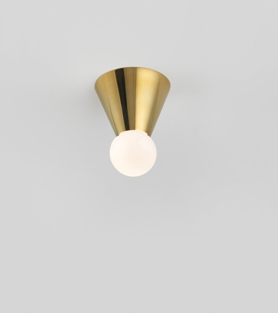 Cone Light Wall/Ceiling MountedPolished Brass Michael Anastassiades - Image 1