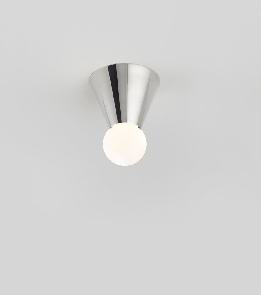 Cone Light Wall/Ceiling MountedPolished Nickel-Plated Brass Michael Anastassiades - Image 1