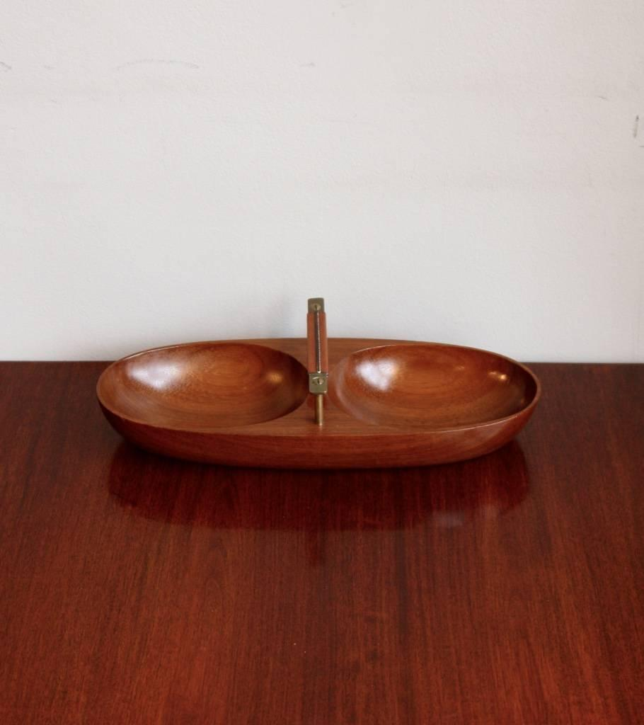 Modernist Double Bowl Boat  Carl Auböck - Image 4