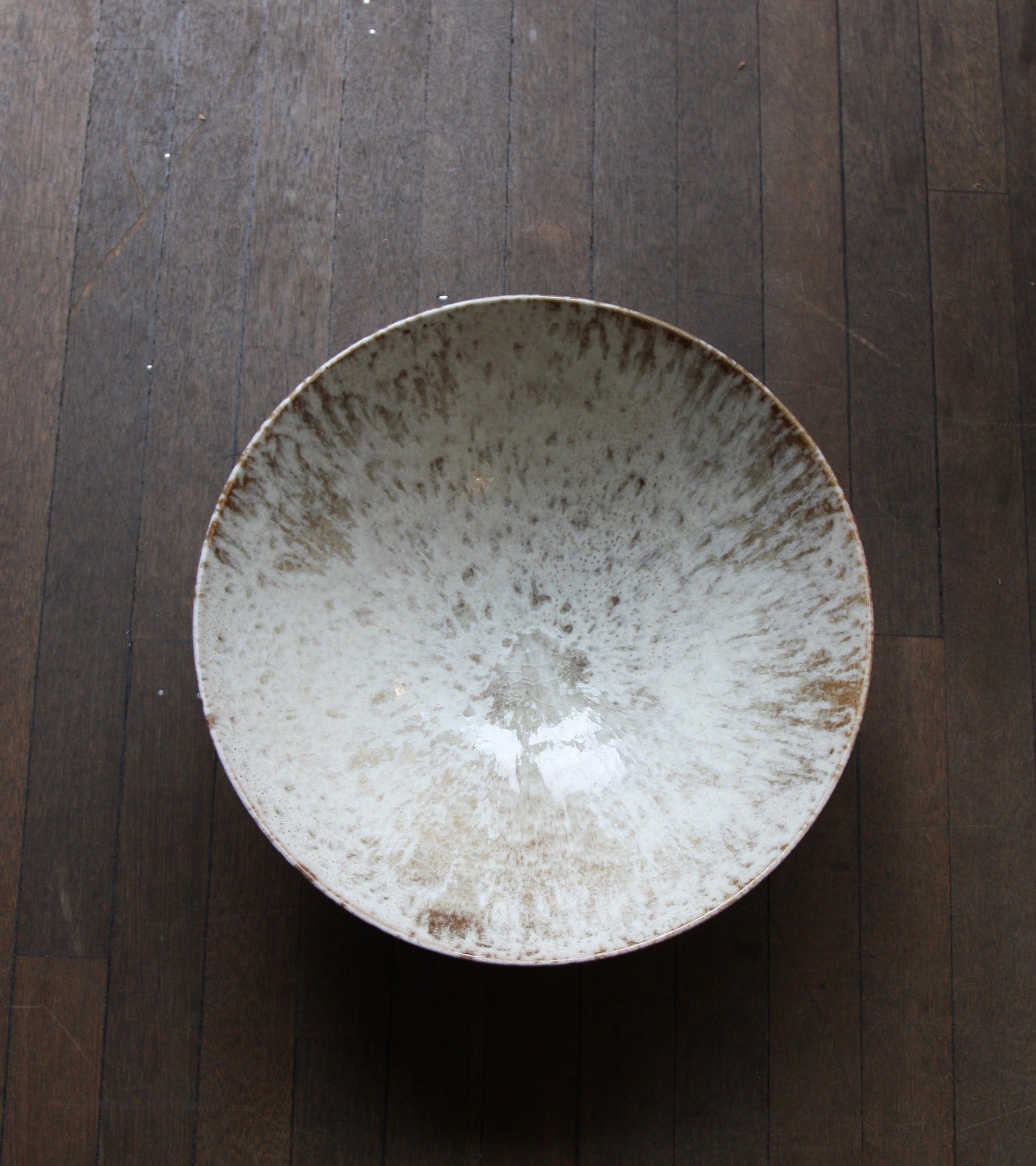 Enormous Tea Bowl Shaped BowlBrown & White Glaze   Kasper Würtz - Image 3