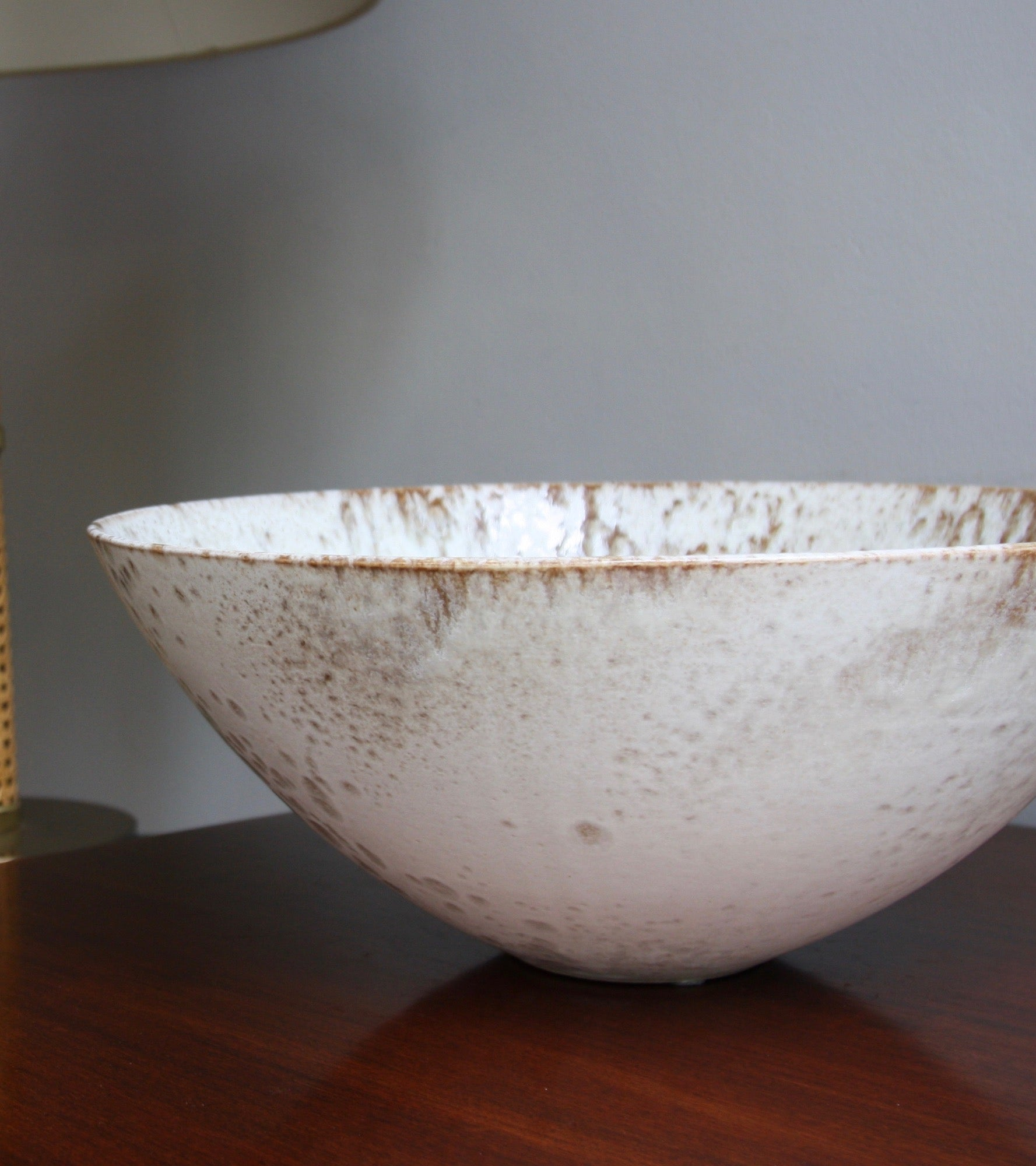 Enormous Tea Bowl Shaped BowlBrown & White Glaze   Kasper Würtz - Image 8