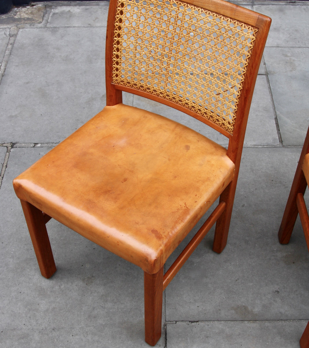 Four Teak, Leather & Cane Chairs Carl-Gustav Hiort af Ornäs  - Image 10