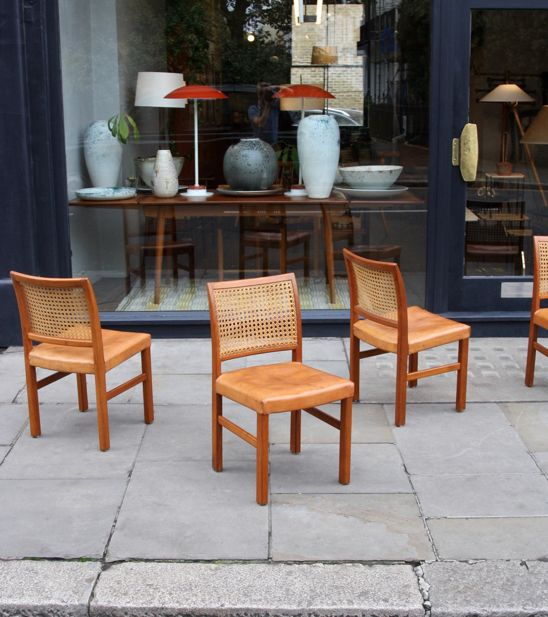 Four Teak, Leather & Cane Chairs Carl-Gustav Hiort af Ornäs  - Image 11