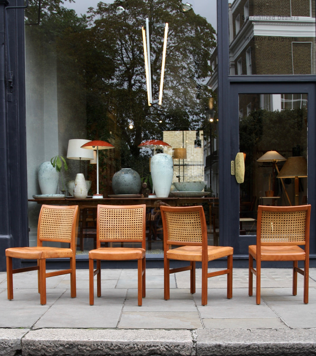 Four Teak, Leather & Cane Chairs Carl-Gustav Hiort af Ornäs  - Image 13