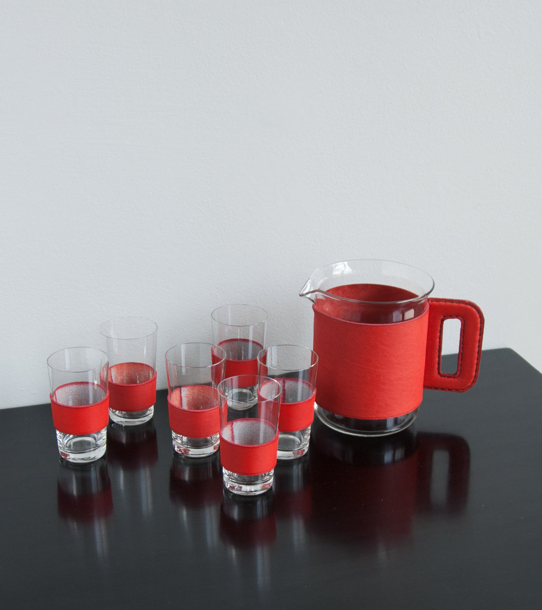 Colourful set of Jug & 6 glasses  Carl Auböck - Image 7