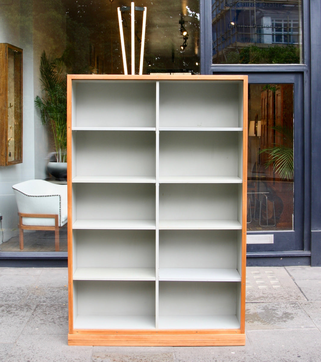 Large Bookcase  Børge Mogensen and Grete Meyer - Quality Danish Modern Beautiful Handmade Danish Design Architect Designed Simple Built for the future Storage  Front of shop image