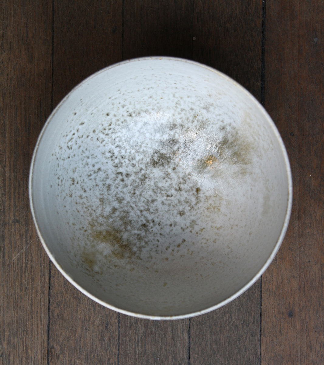 Large Deep Bowl 12White and Brown Glaze Kasper Würtz - Image 5