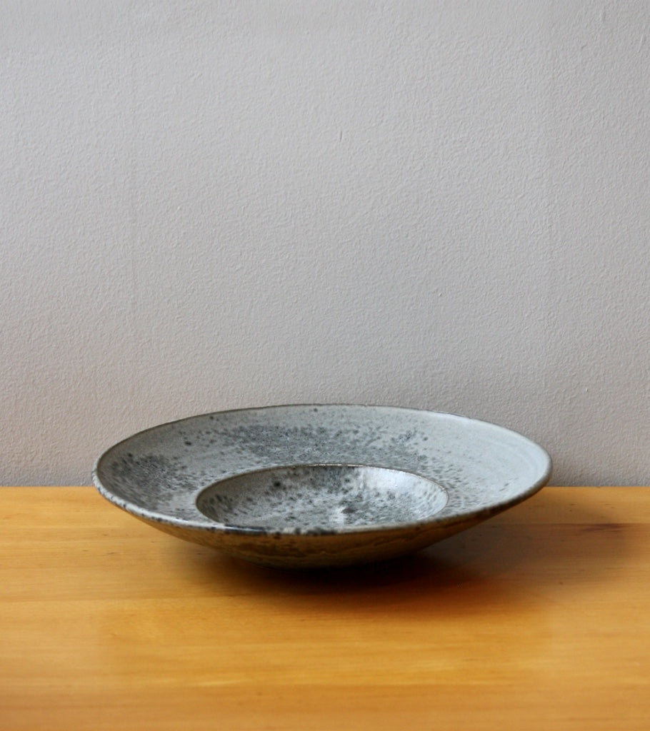 Large Flat Out Bowl 11Grey Glaze Kasper Würtz - Image 1
