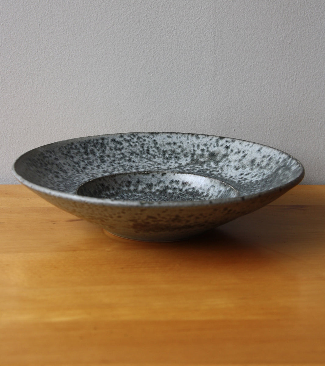 Large Flat Out Bowl 11Grey Glaze Kasper Würtz - Image 2