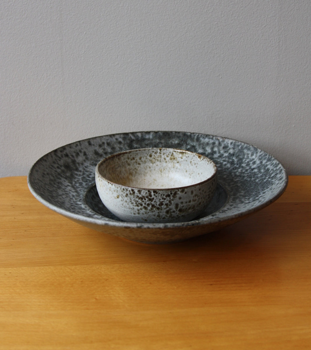 Large Flat Out Bowl 11Grey Glaze Kasper Würtz - Image 6