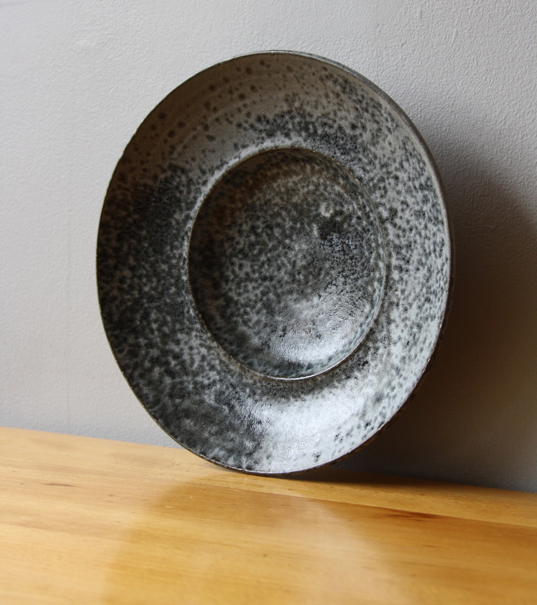 Large Flat Out Bowl 11Grey Glaze Kasper Würtz - Image 8