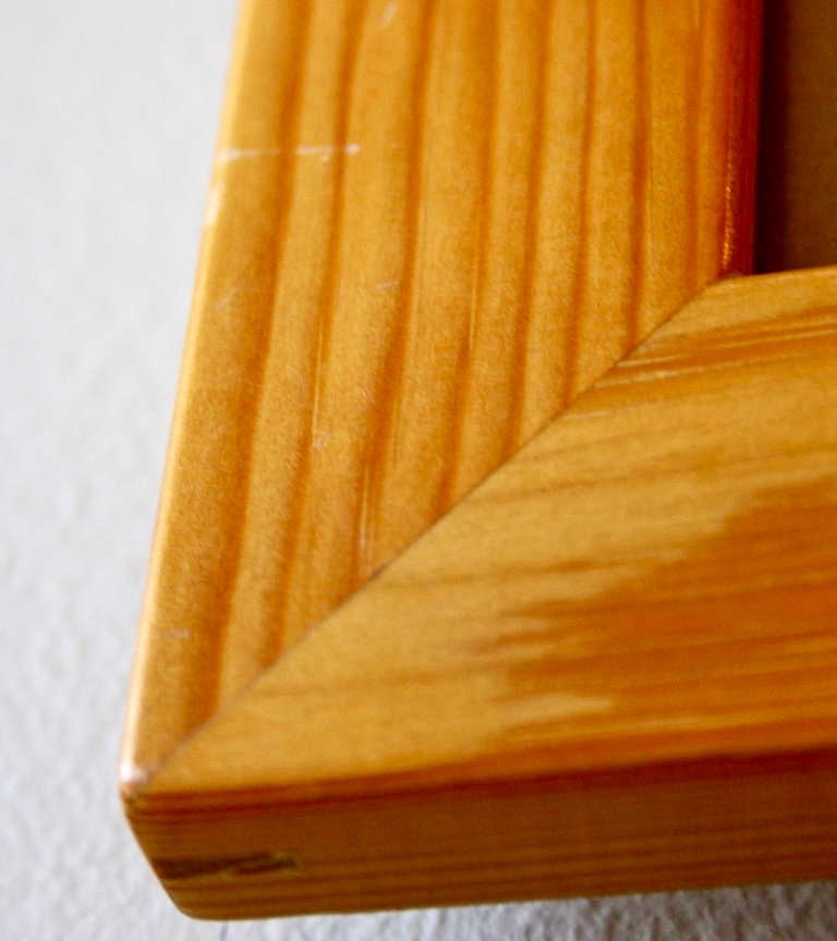 Large Picture Frame Mogens Koch  - detail corner Mogens Koch rud Rasmussen made in Copenhagen quality handmade pine frames for life cleaver mathematical furniture kaare klint Danish masters