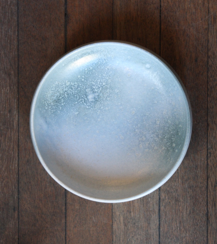Large Shallow Bowl 13White & Blue Glaze Kasper Würtz - Image 2