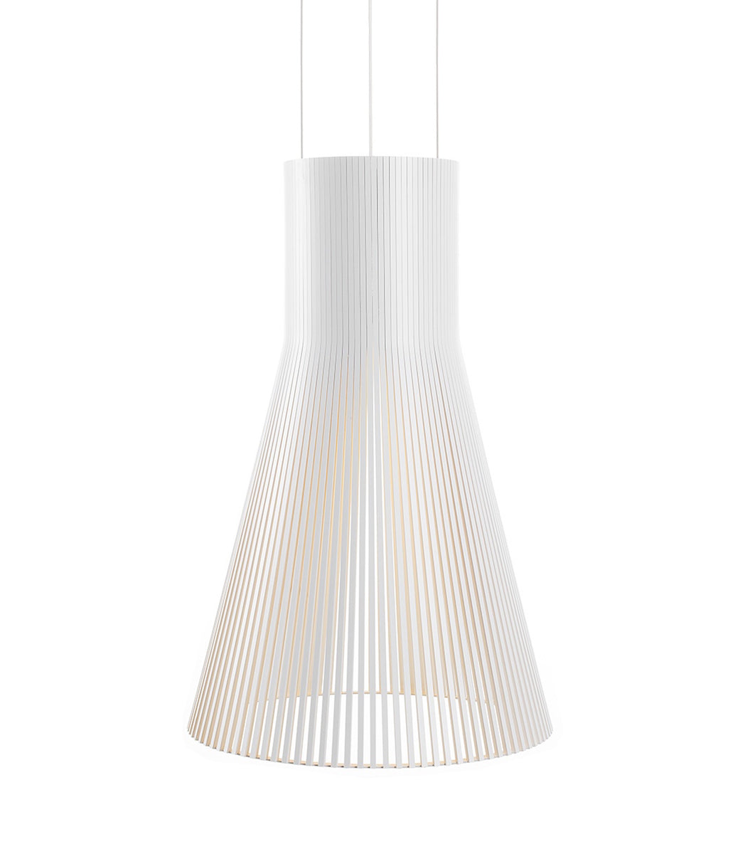Magnum 4202 White Secto Design Large Scandinavian Wood Pendant Organic ceiling lamp