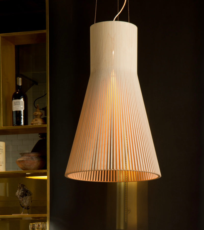 Magnum 4202 Natural Birch Secto Design, contemporary lighting nordic pendant eye-catcher big light