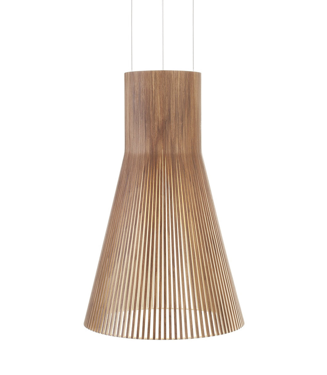 Magnum 4202 Pendant Walnut Secto Design Seppo Koho pendant large contemporary ceiling light handmade birch