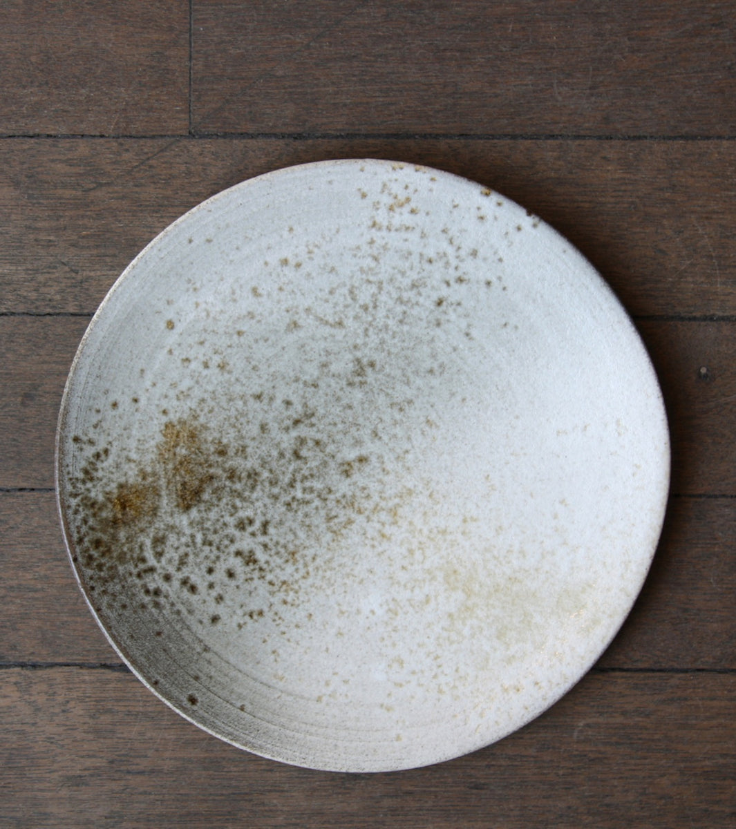 Medium Flat Plate 5White & Brown Glaze Kasper Würtz - Image 7
