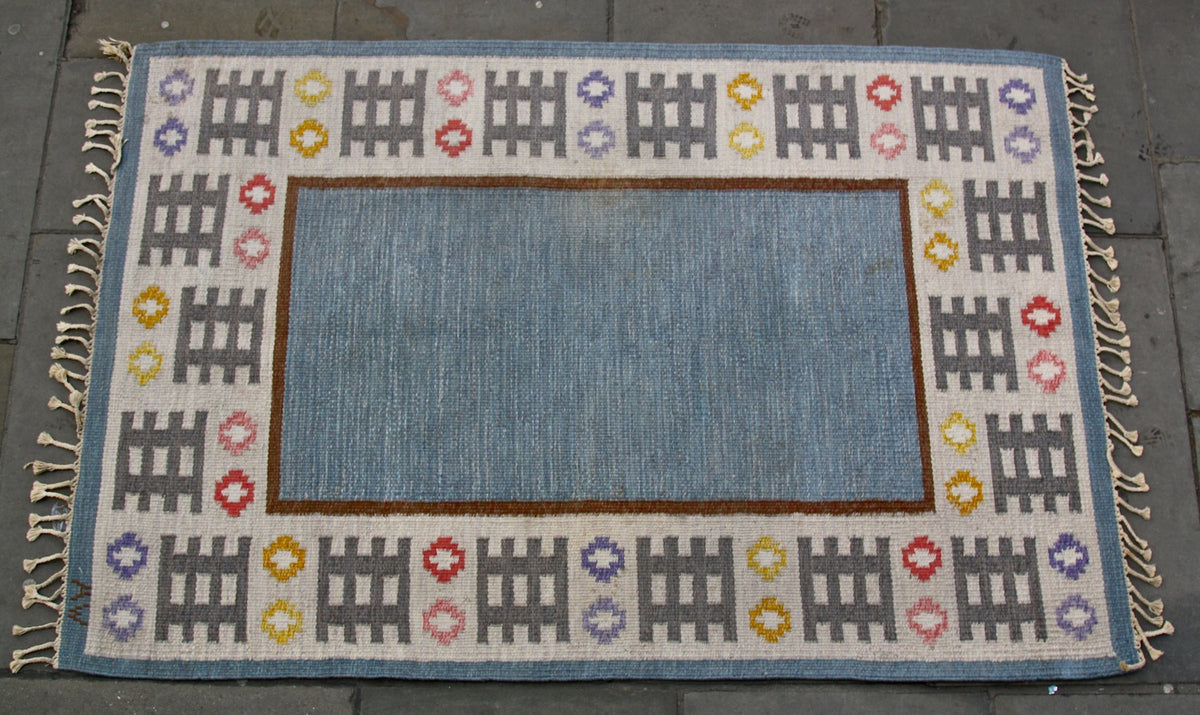 Medium Rug #1 Mai Wellner - Image 3 flatware rug quality made in scandinavia