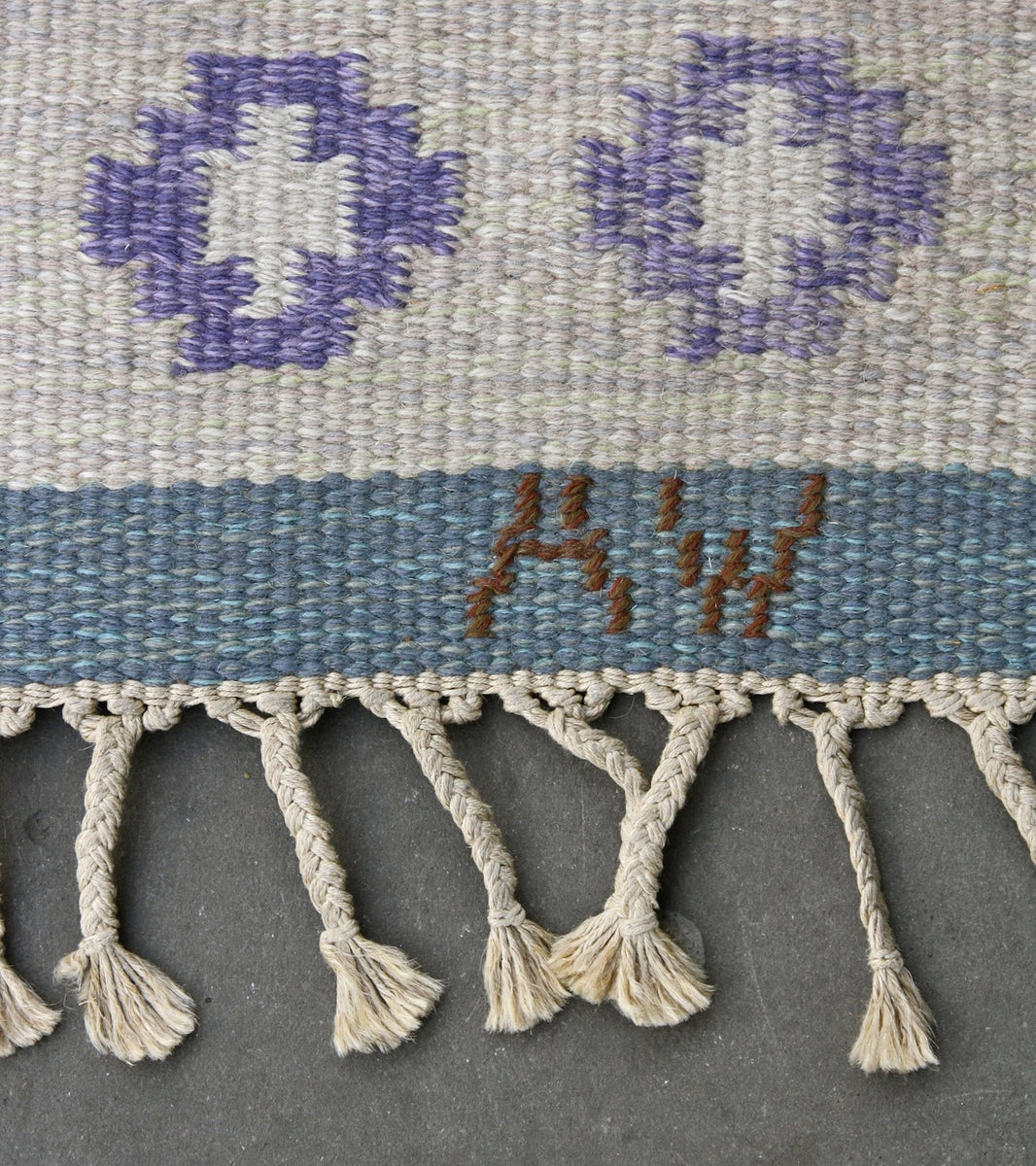 Blue flatweave rug by  Mai Wellner - Image 8